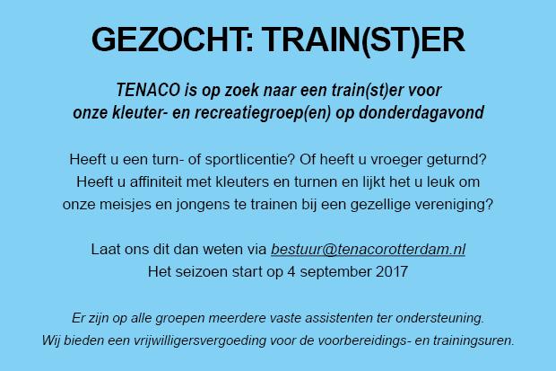 GEZOCHT: Train(st)er